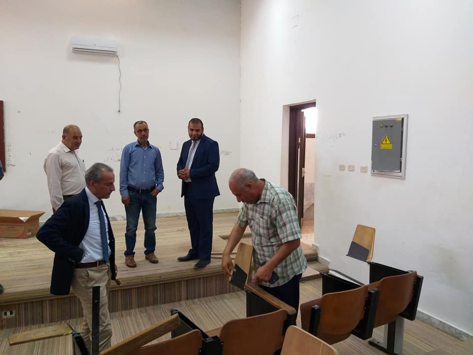 The President of the University makes an inspection visit to the Faculty of Human Resources Zltan in the framework of final preparations for the reception of high school students
